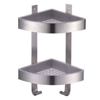 2 Tier Corner Shower Caddy With Brushed